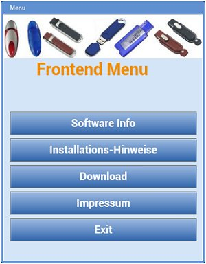 "Screenshot of a menu on a Sony XPERIA Smart Phone (3"" Display)"